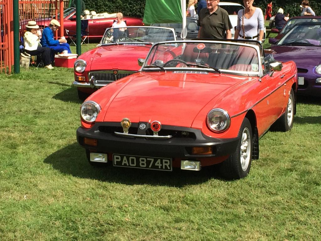 Pride of place at the Brailes show with the Arden MG club